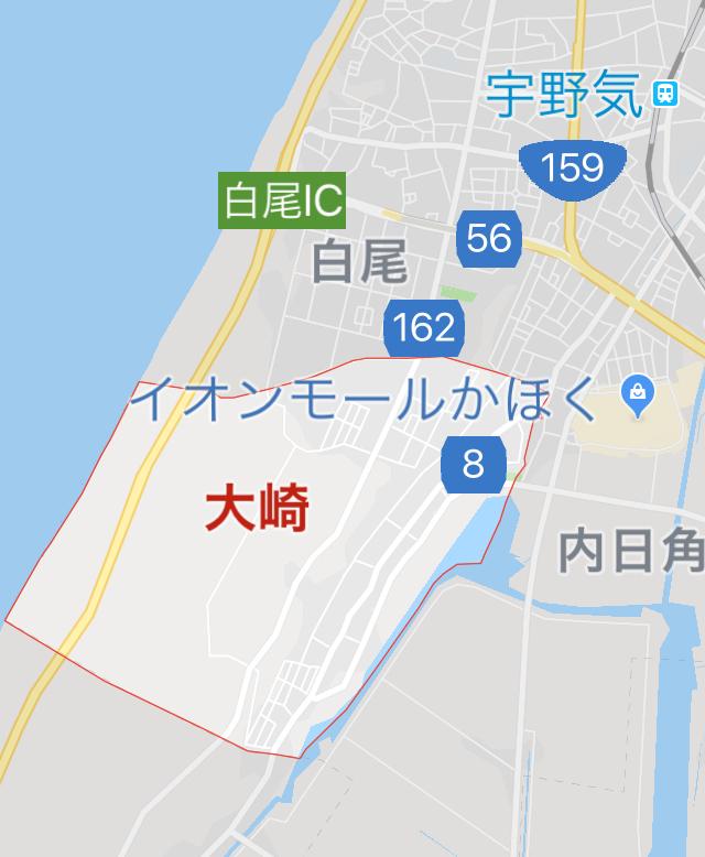 奥川くんの地元・かほく市大崎
